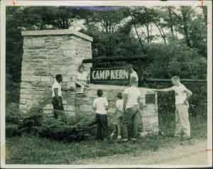Camp Kern Sign History